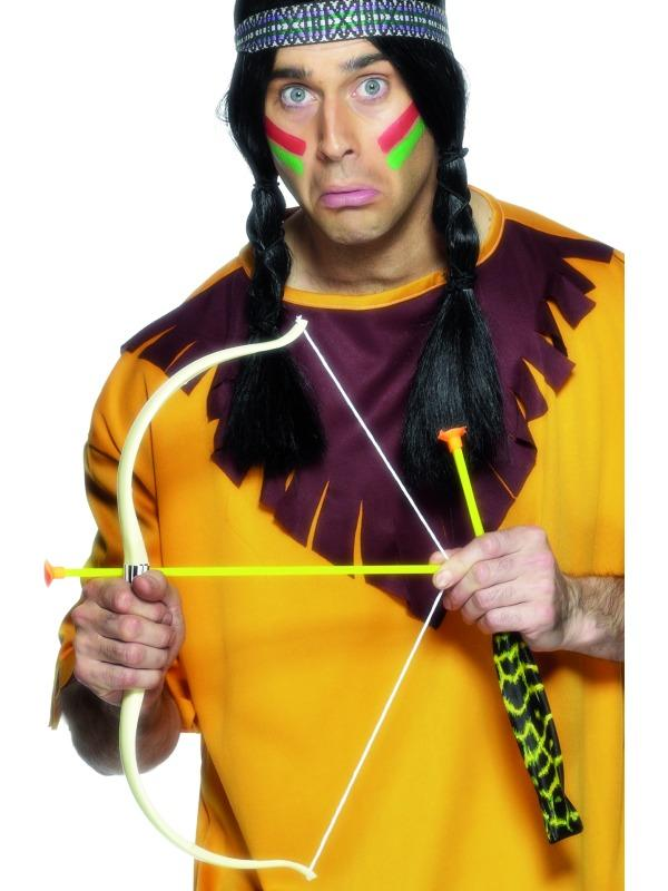 INDIAN BOW AND ARROW SET DRESSING UP COSTUME ACCESSORY FANCY DRESS