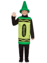 View Item Age 4-6 Yrs Crayola Crayon Fancy Dress Costume Green