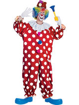 Men's Red And White Spotted Clown