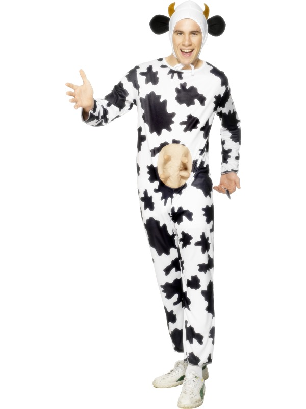 Adult Comical Cow Animal Standard Fancy Dress Costume