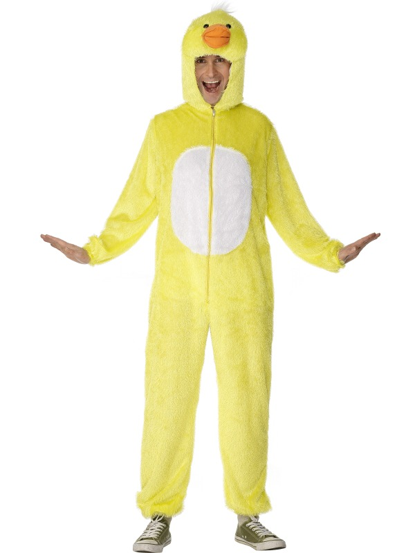 Adult Duck Mens Ladies Unisex Jumpsuit Fancy Dress Bird Animal Costume
