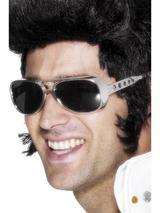 View Item Adult Elvis Presley Sun Shades Fancy Dress 1970s Glasses Spectacles