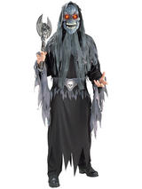 View Item Adult Evil Eye Skull Monster Halloween Light Up Eyes Fancy Dress Costume Mens