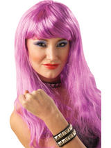 Purple Long Glamour Wig