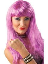 Purple Long Glamour Wig