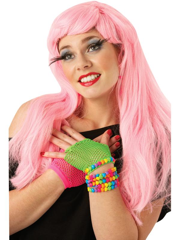 Pink Long Glamour Wig