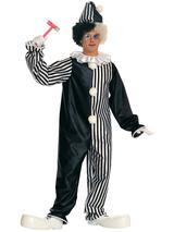 Men's Harlequin Black And White Jester Costume