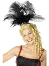 View Item Adult Can Can Showgirl Feather Headpiece Fancy Dress Costume Accessory
