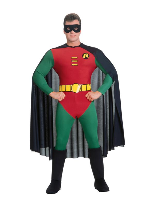 Adult Robin Superhero Fancy Dress Costume Batman Superhero ...