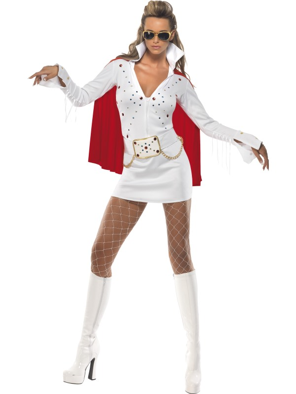Adult-12-14-Licensed-Elvis-Viva-Las-Vegas-Party-Fancy-Dress-Costume-50s-Women