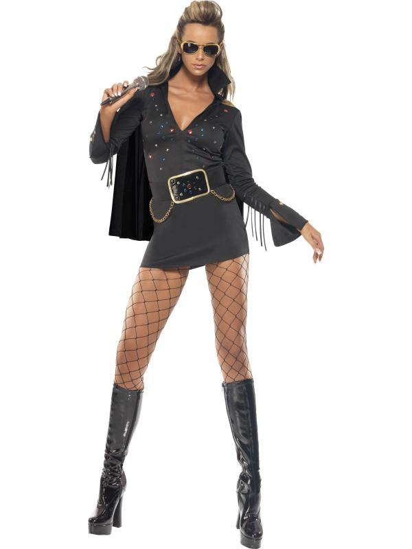 Adult-12-14-Licensed-Elvis-Viva-Las-Vegas-Party-Fancy-Dress-Costume-50s-Female