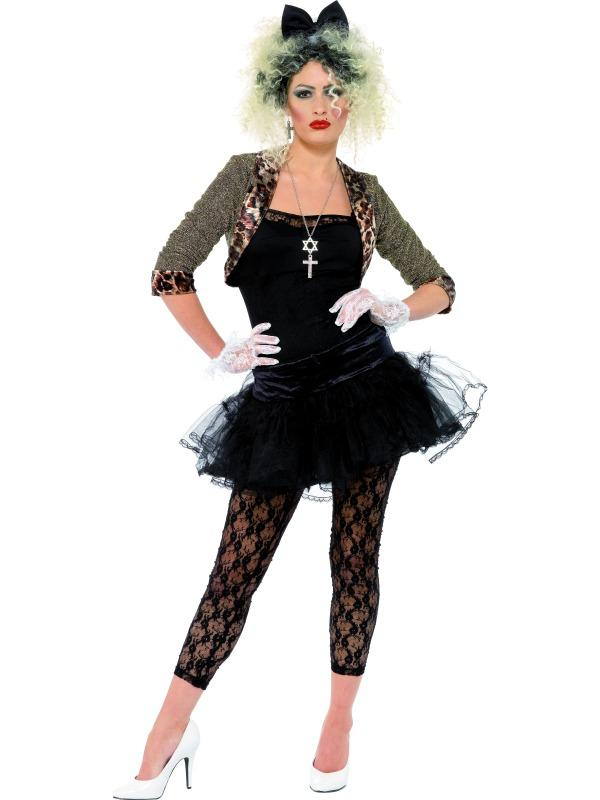Adult-Madonna-Wild-Child-Costume-Fancy-Dress-80s-Sexy-Ladies-Womens-Female-BN