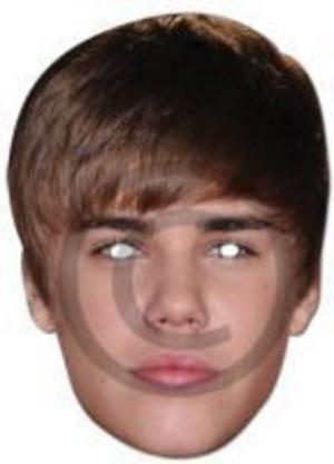 justin bieber face. Justin Bieber Face Mask Fancy Dress Singer Celeb Acc Preview. Click Image to Enlarge