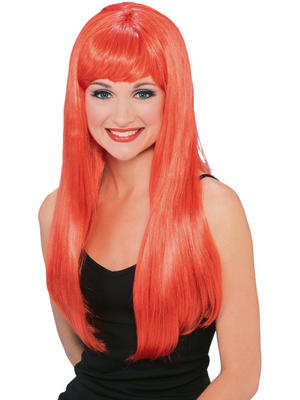 Ladies Red Glamour Wig Thumbnail 1