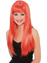 Ladies Red Glamour Wig