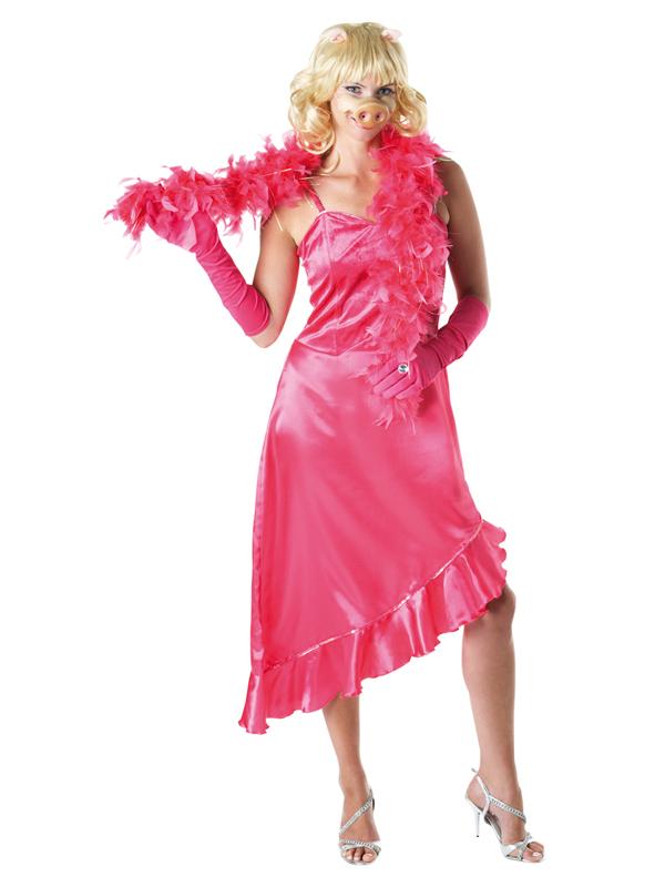 adult licensed muppets miss piggy fancy dress costume disney ladies women female ebay. Black Bedroom Furniture Sets. Home Design Ideas