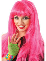Hot Pink Ladies Glamour Wig