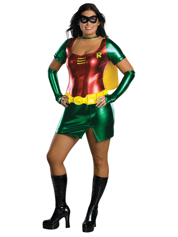 Adult Female Robin Party Outfit Fancy Dress Costume ...