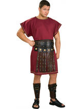 View Item Adult Mens Roman Burgundy Tunic Fancy Dress Costume (STD) Toga