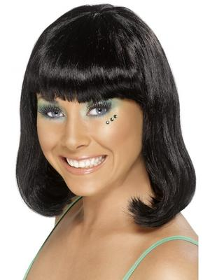 Adult Ladies Black Party Wig Thumbnail 1