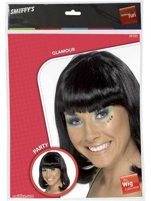 Adult Ladies Black Party Wig Thumbnail 2