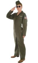 View Item Adult Aviator Fancy Dress Pilot Fighter Costume 34-48""