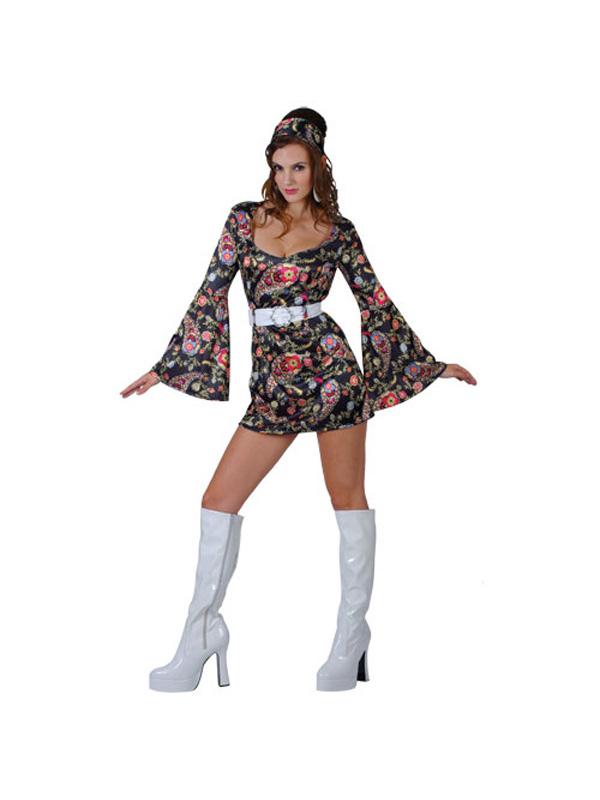 Ladies-Retro-Go-Go-Girl-Ladies-Fancy-Dress-1960s-Costume-UK-Size-6-28-BN
