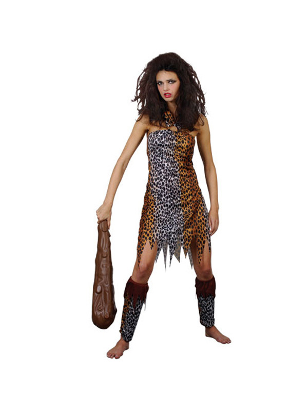 Caveman Costume Accessories : Adult crazy cavewoman fancy dress costume ladies sexy