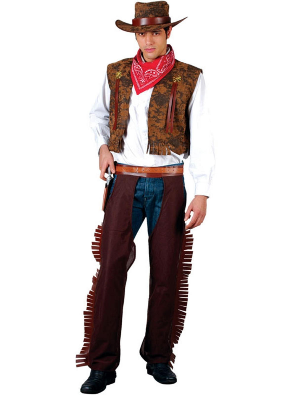 Adult Western Cowboy Fancy Dress Wild West Costume M Buy