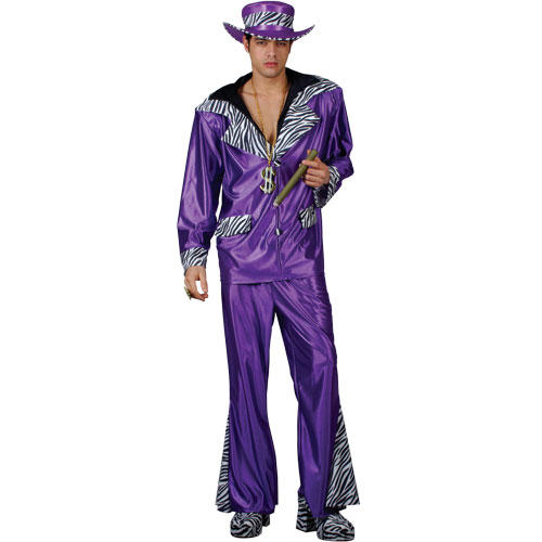 ... Purple Street Level Pimp Daddy 70s Bling Fancy Dress Costume Mens Buy