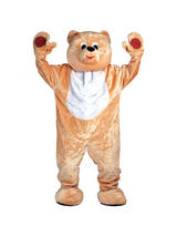 View Item Adult One Size Teddy Bear Cuddly Full Body Deluxe Mascot Fancy Dress Costume