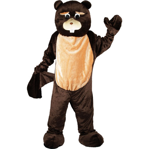 BEAVER MASCOT ADULT ANIMAL COSTUME 1 SIZE ONLY WILDLIFE FANCY DRESS