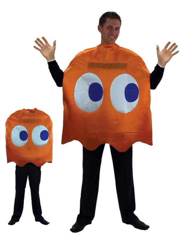 erwachsene ghost clyde orange kost m pacman kost m ebay. Black Bedroom Furniture Sets. Home Design Ideas