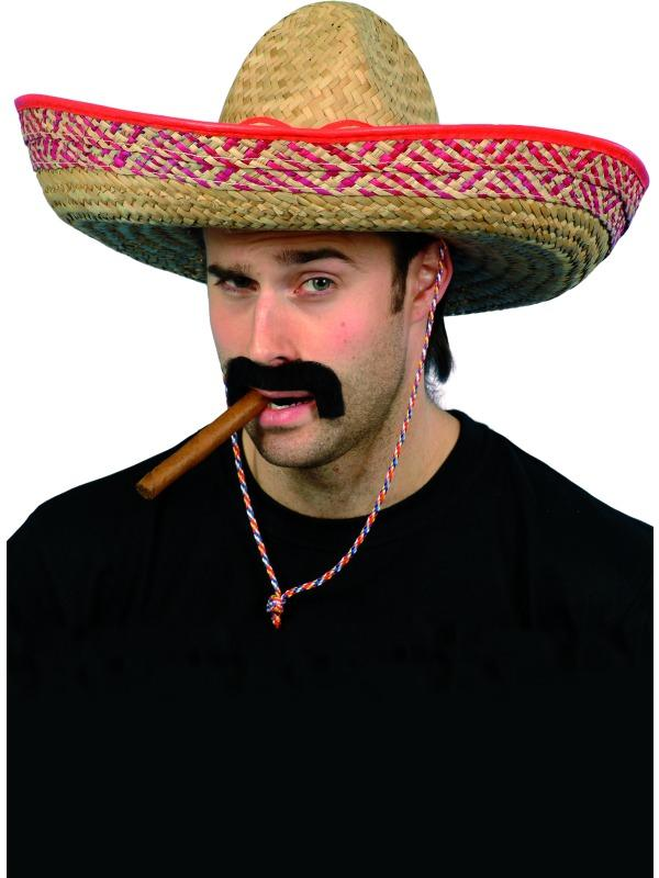 Mexican Bandit Straw Sombrero Cowboy Western Hat Fancy Dress Costume Accessory