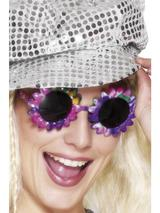 View Item Flower Power Specs Fancy Dress Costume Accessory