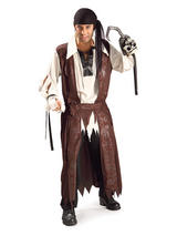 View Item Adult Caribbean Pirate Standard Fancy Dress Costume