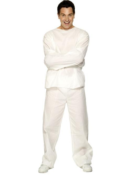 Adult Strait Straight Jacket Halloween Horror Patient Fancy Dress ...