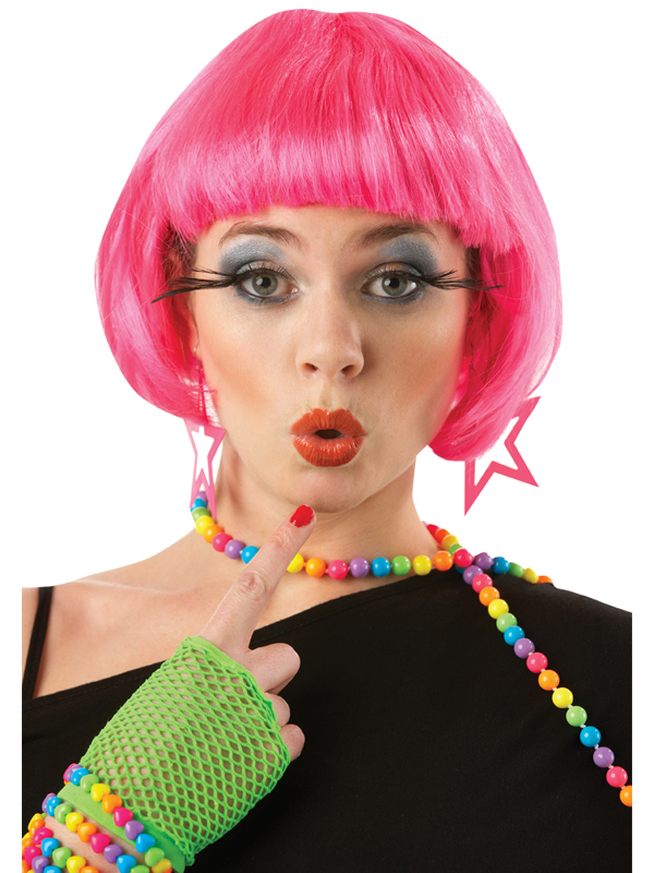 Pink Supermodel Wig