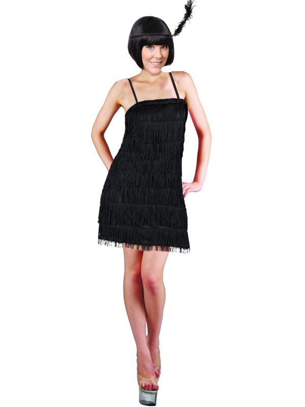 Ladies Black Gatsby Showtime Flapper Girl 1920s Charleston Fancy ...