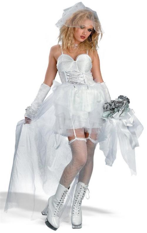 Adult Ladies 14 16 Madonna Like A Virgin Bride Costume Fancy Dress Wedding 80s Buy Online