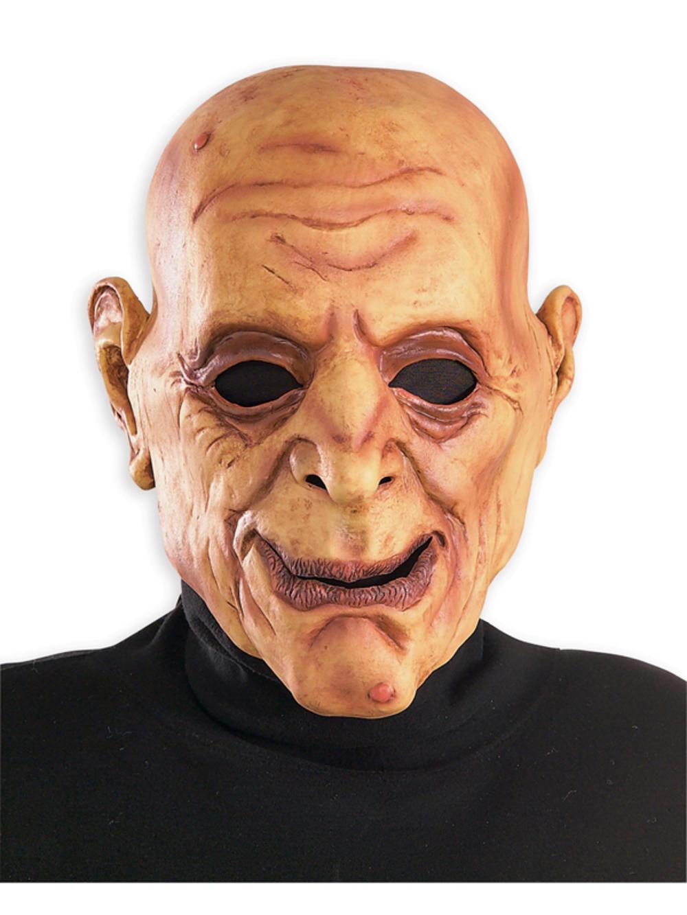 Adult Creepy Wrinkled Old Man Overhead Mask Fancy Dress Halloween ...