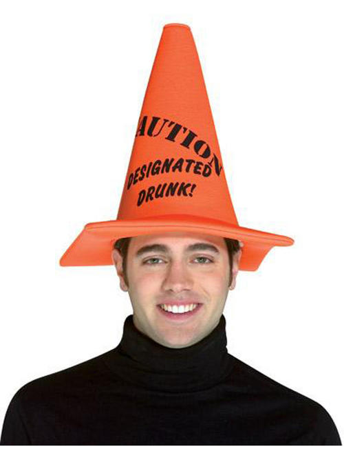 One Size Quot Designated Drunk Quot Traffic Cone Hat Adult Stag