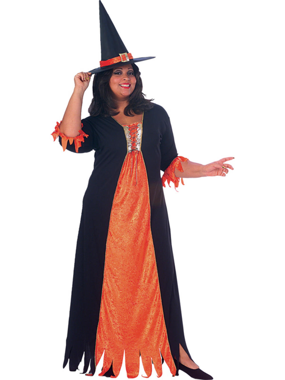 Plus Size Gothic Witch Halloween Size 16 20 Fancy Dress