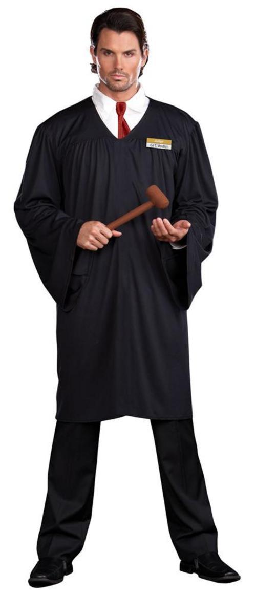 Adult Mens Judge Gil T Verdict Lawyer Robe Gown Fancy