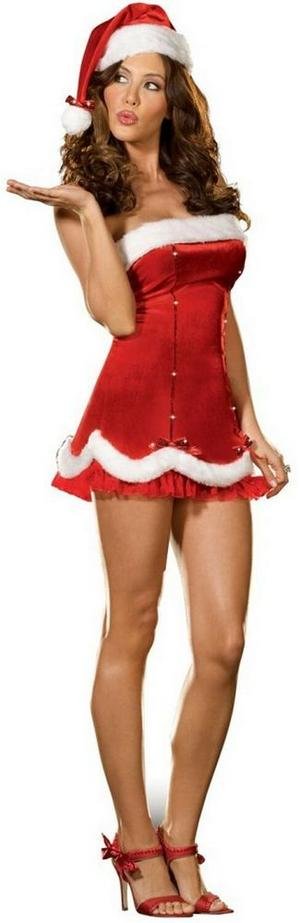 Adult Holiday Honey Fancy Dress Christmas Costume (L) UK 14-16