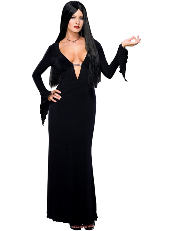Adult-Morticia-Adams-Outfit-Fancy-Dress-Costume-Sexy-Halloween-Ladies-Womens