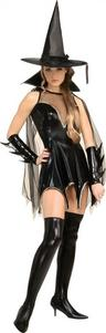 View Item Adult Ladies 8-10 Black Magic Moment Sexy Witch Halloween Fancy Dress Costume