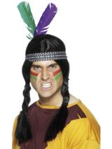 View Item Adult Indian Feathered Headdress Fancy Dress Accessory