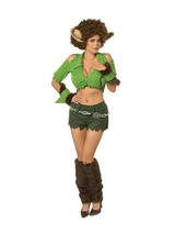 View Item Adult Ladies 6-8 Sexy Wolf Woman Fancy Dress Halloween Werewolf Costume (XS)