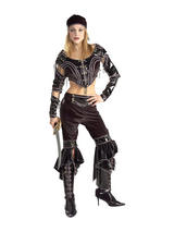 View Item Adult Ladies UK 10-14 Buccaneer Babe Deluxe Sexy Pirate Fancy Dress Costume